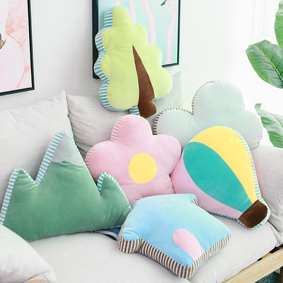 INS cute pillow Nordic style living room sofa car leaning onpin ornaments teenage heart sleeping bed small pillow