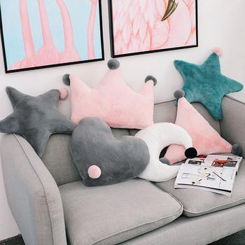 Нордический ins диван подушка милый любовь подушка прикроватный императорская корона подушка эркер гостиная кровать звезда подушка, цена 274 руб