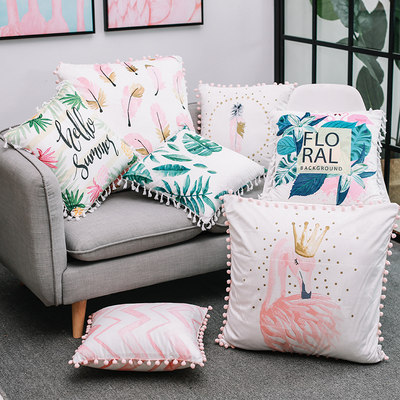 ins Nordic pillow cushion office sofa living room nap pillow bedroom bedside backrest girl heart pillow