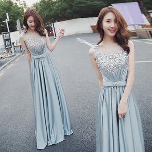Evening dress prom gown Annual meeting dinner evening dress female banquet noble elegant show thin temperament host performance dress