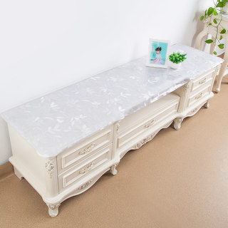 Practical transparent pvc TV cabinet cushion waterproof tablecloth cloth art cover cloth pastoral home Nordic rectangular custom TPU