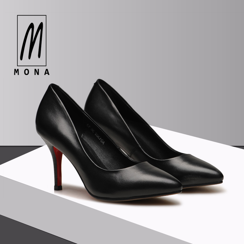 24c97d1da656 Mova fashion stiletto work shoes female black pointed high heels  professional women s shoes leather shoes 33