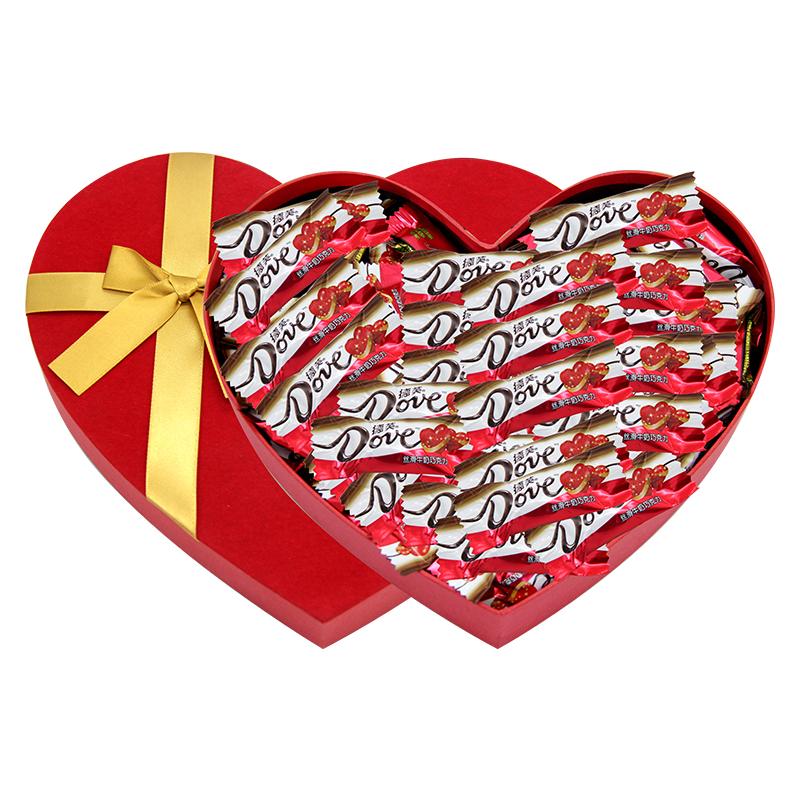 德芙巧克力礼盒装 送女友创意diy男女朋友闺蜜520浪漫情人节礼物_英家券