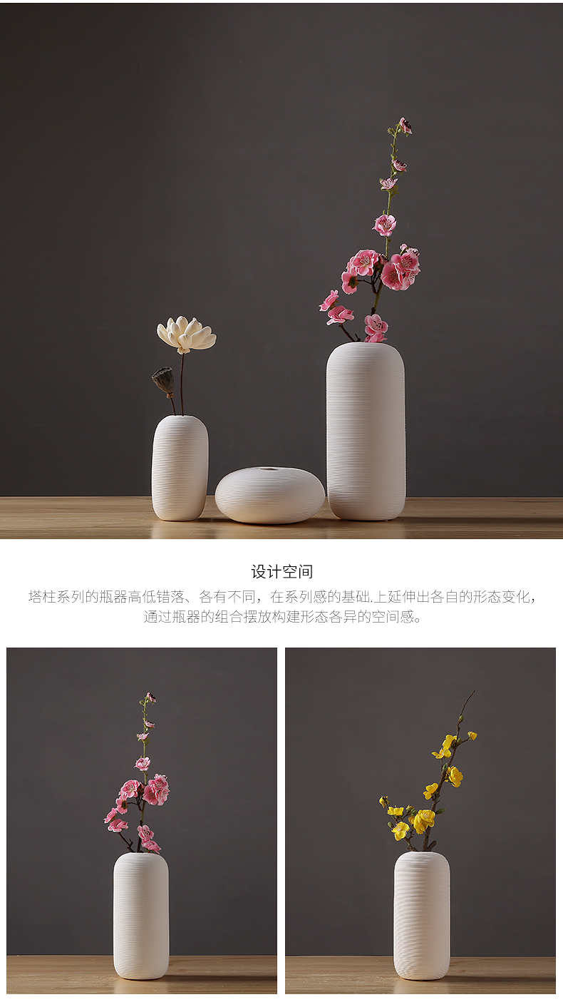 Ceramic vase manual creative dried flower adornment furnishing articles I and contracted sitting room porch TV ark, home decoration