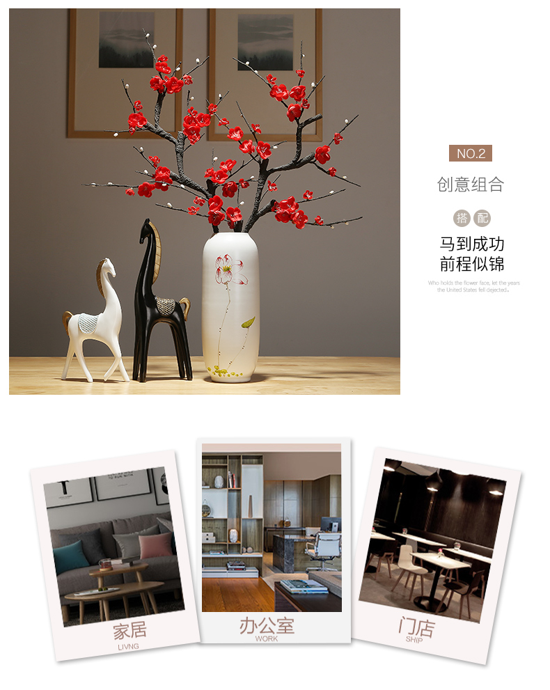 Jingdezhen ceramic vases, study of new Chinese style household adornment ornament desktop between modern example flower arranging flowers