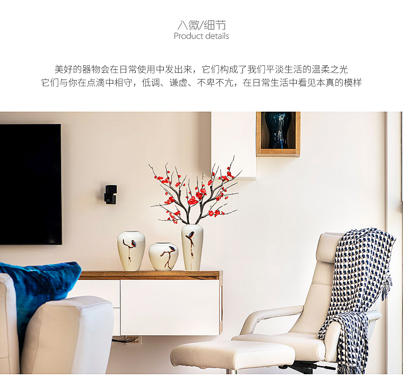 Ceramic vases, furnishing articles I and contracted the new Chinese style household decorations sitting room hall table, TV ark, flower arrangement