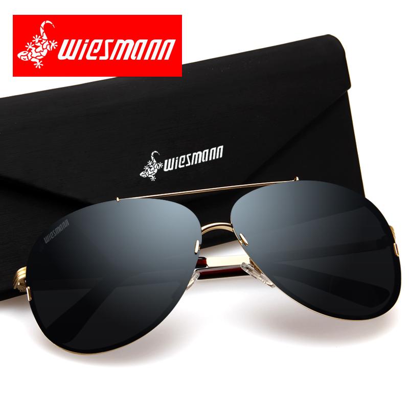 威兹曼 偏光镜太阳镜男士2018驾驶眼镜开车墨镜司机镜潮人蛤蟆镜