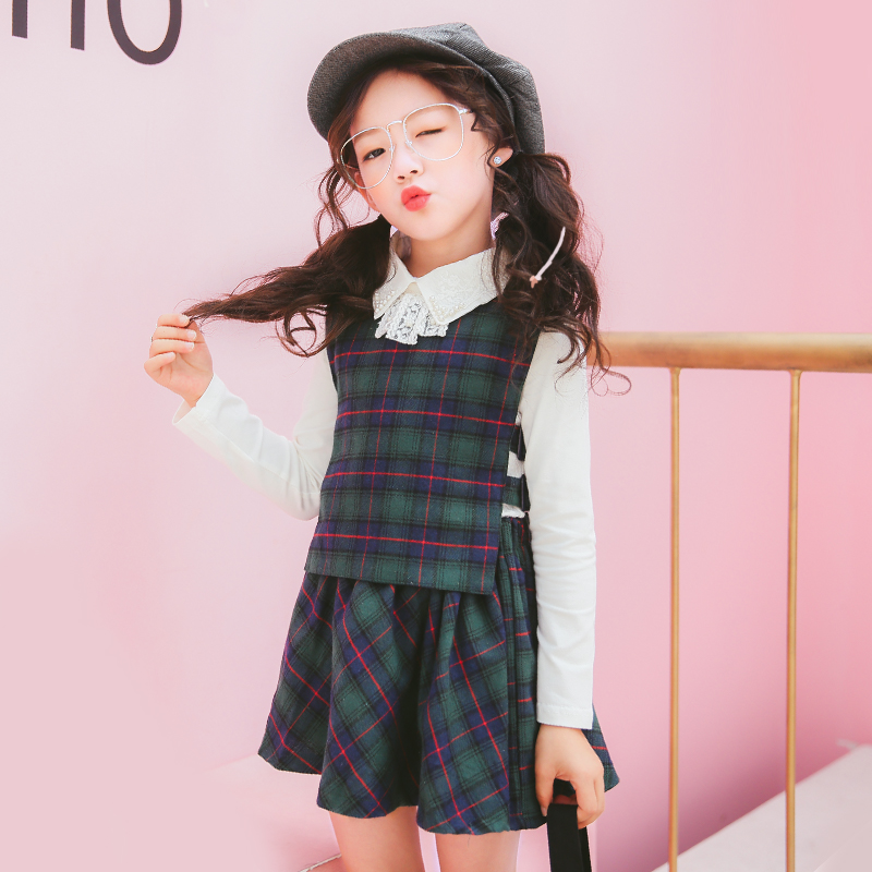 78c11044048 Girls three sets of skirts 2019 new 5 children s clothing 8-year-old spring  and autumn 6 Korean version 4 tide 9 large children 10 sets