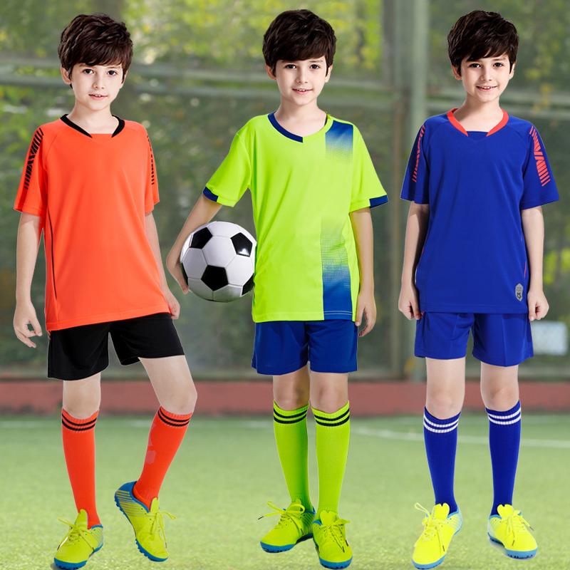 竞迈儿童足球服套装夏季男童小学生短袖速干定制印字训练球衣男孩