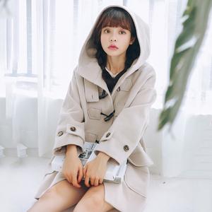 韩国 秋冬新款女毛呢大衣 外套