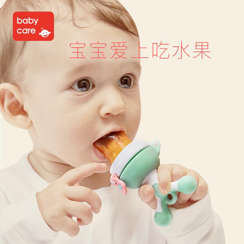 Babycare ребенок еда укусить мешок фрукты и овощи музыка молярный палка ребенок есть фрукты вспомогательный еда устройство силиконовый прорезыватель