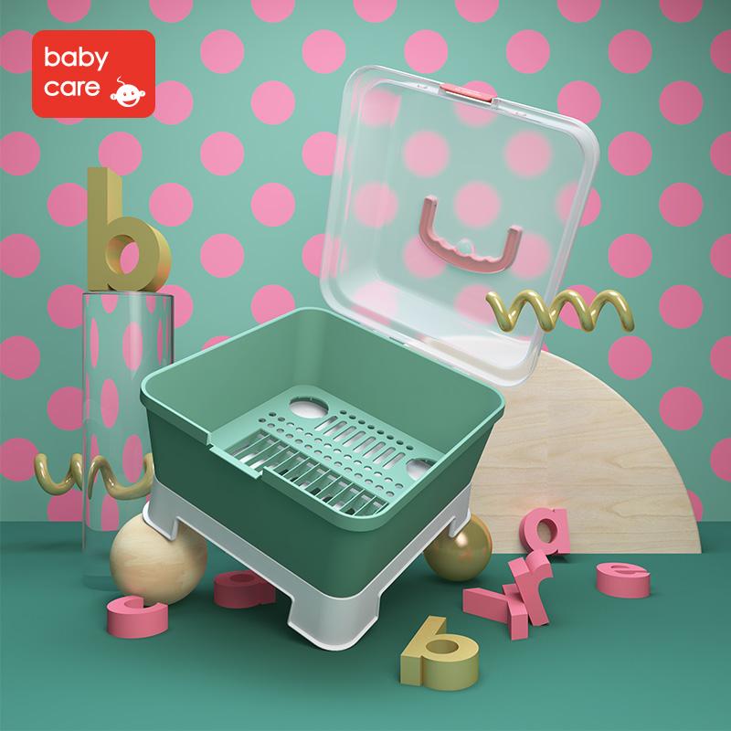 Babycare бутылочка для кормления ящик ребенок посуда в коробку ребенок бутылочка для кормления полка крышка пыленепроницаемый в коробку