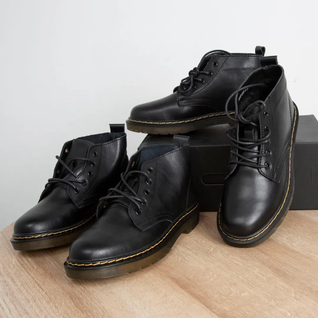飛越潮流好貨看皮料!加絨別錯過啦!男士新款中幫馬丁靴男鞋潮鞋