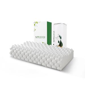 福满园泰国乳胶枕头一对装护颈椎助单人双人家用橡胶记忆枕芯