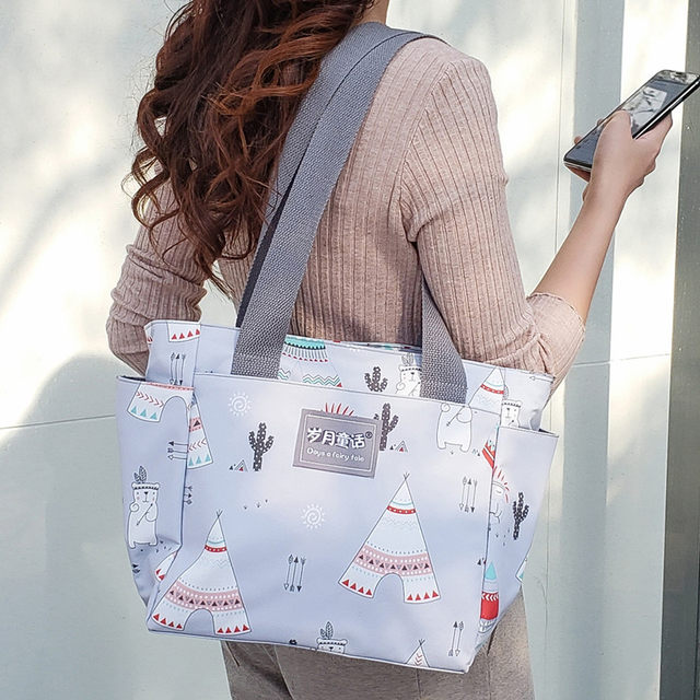 Waterproof canvas shoulder bag female casual high-capacity bag handbag mama cloth mother and child out female big bag