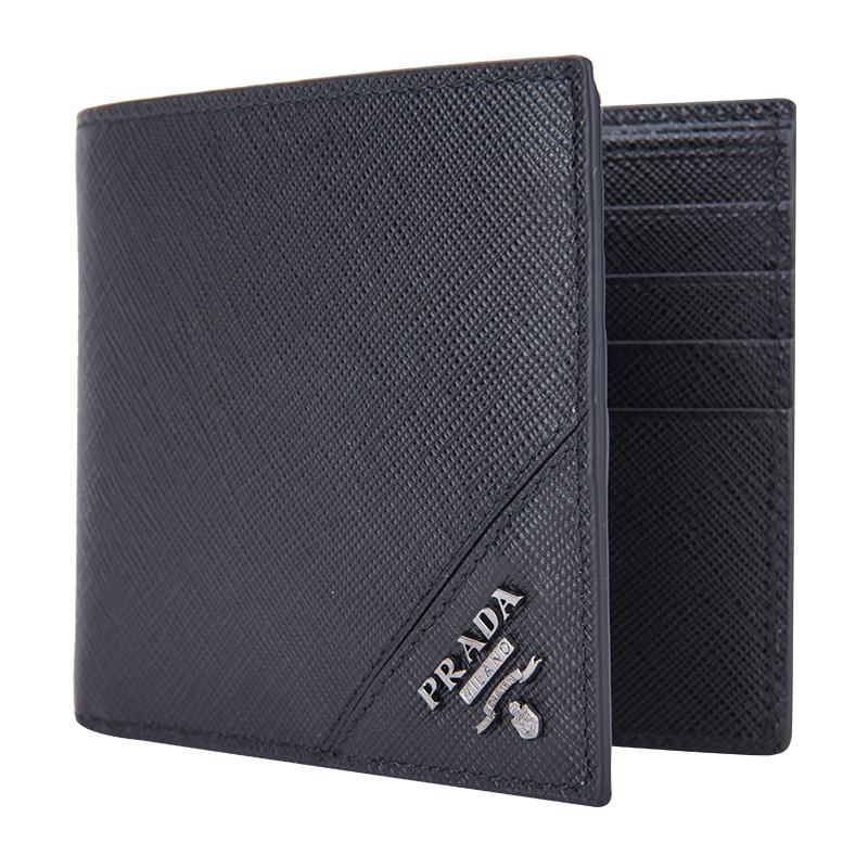 Prada/普拉达PRPR22MOMO513QMEIW男士钱夹钱包时尚短款19年新款GP