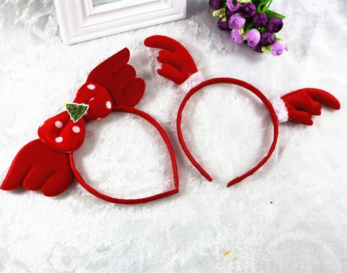 Korean Girls Cute Headband Childrens Hair Hoop Christmas Antlers Baby Head Flower Jewelry