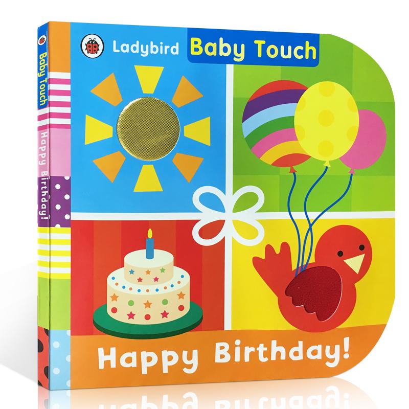 英文原版 Baby Touch: Happy Birthday!寶寶觸摸書:生日快樂!兒童啟蒙親子互動紙板書寶寶感官觸覺認知大開本彩繪圖畫書ladybird