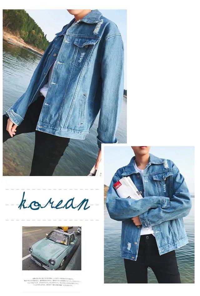Mùa thu nam Hàn Quốc phiên bản của denim áo khoác thanh niên rửa đẹp trai Slim áo khoác sinh viên xu hướng phần mỏng trên quần áo