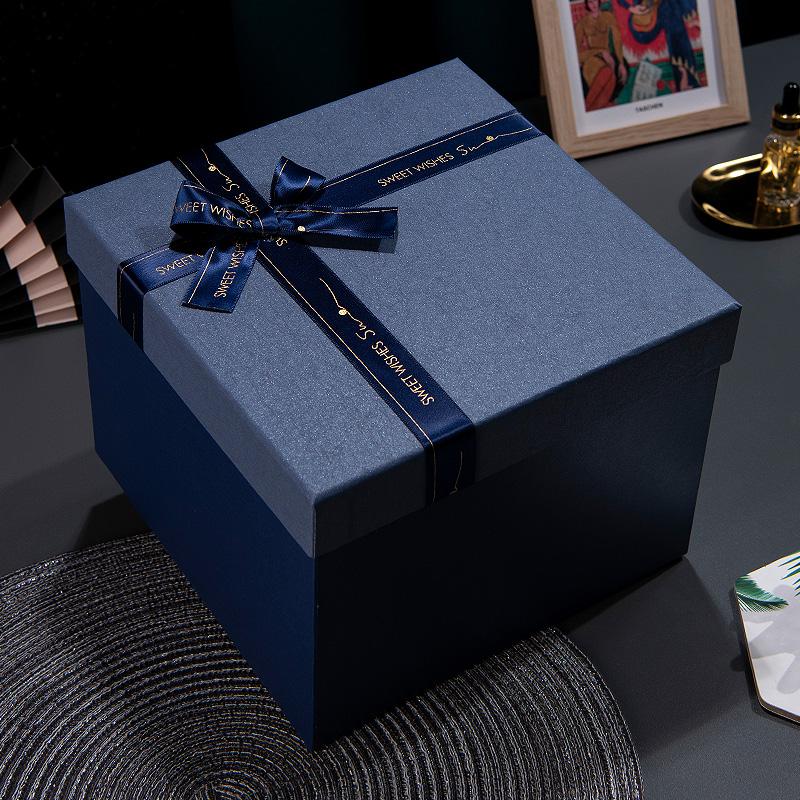 送女友男生款礼物盒正方形大号礼盒包装盒网红生日礼品盒子ins风