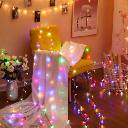 New year LED cherry blossom small lanterns flashing lights string lights sky full of stars colorful home decoration room new year outdoor