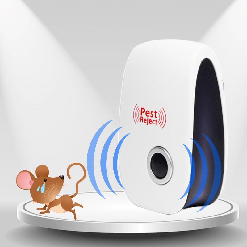 超声波驱鼠器家用强力老鼠克星干扰电子猫捕鼠灭鼠驱鼠神器药胶抓