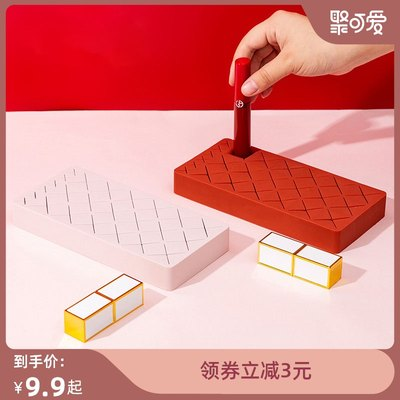 Desktop mouth red storage box multi-show shelf silicone INS wind girl heart-placed cosmetics storage artifact