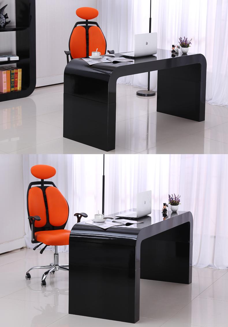 烤漆电脑桌简约书桌台式家用写字台高档办公桌子家具定做