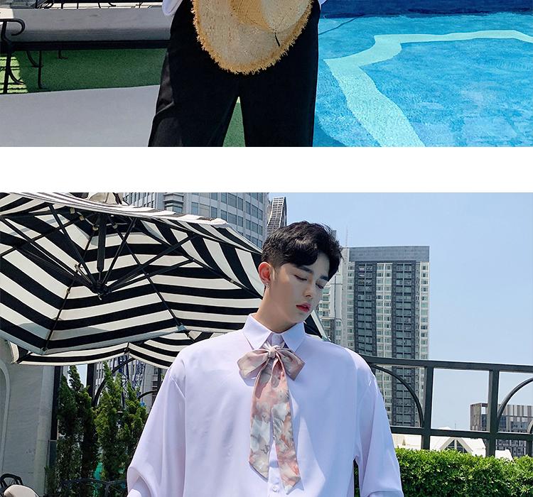 设计师款气质复古花卉领结优雅领带长袖衬衫C503 P60(不低于70)