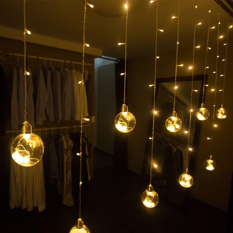 Floating window lamp led small light bulb net red lamps take pictures background room decorated curtain string lamp girl dormitory romance