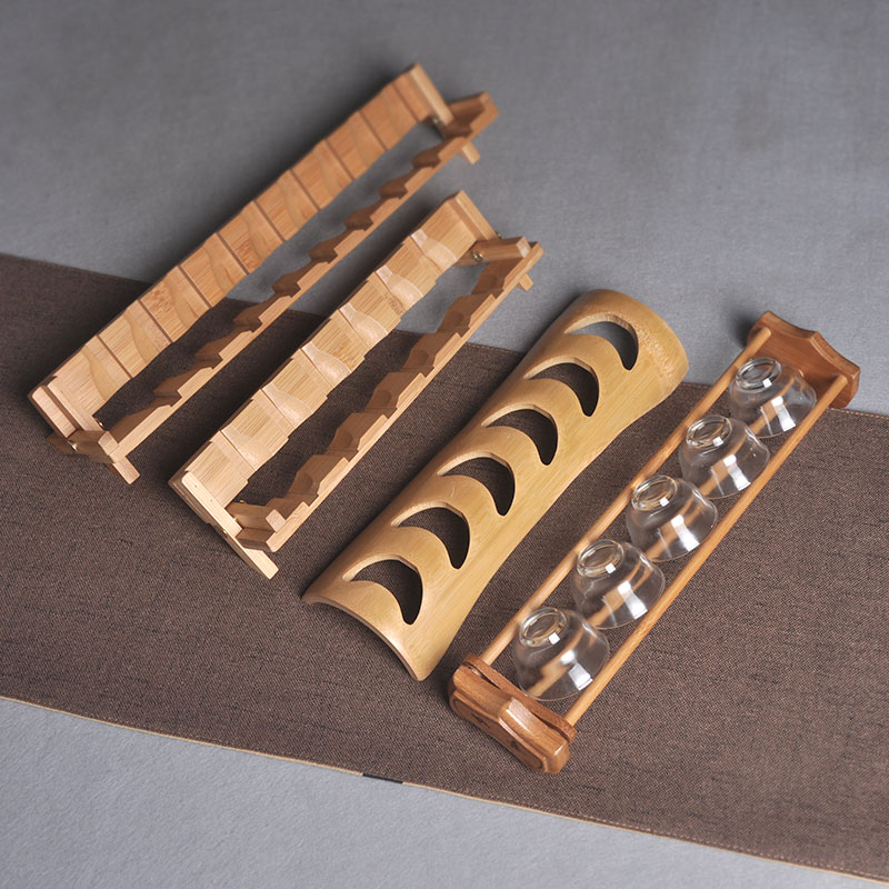 Teacity shelf bamboo cool cup rack bamboo teac cup collection layer rack display rack kung fu tea ceremony tea set spare parts.