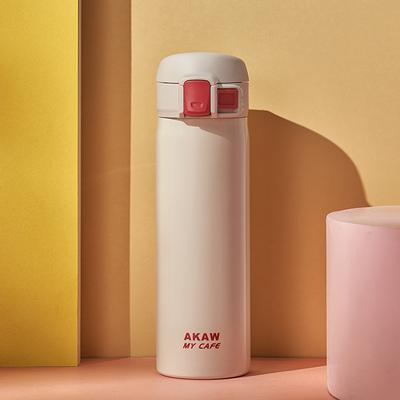 日本AKAW爱家屋保温杯女便携泡茶学生创意可爱韩版随手杯清新文艺