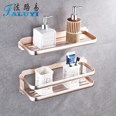 Golden bathroom shelf toilet toilet vanity storage rack suction cup free punch wall hanging toilet rack