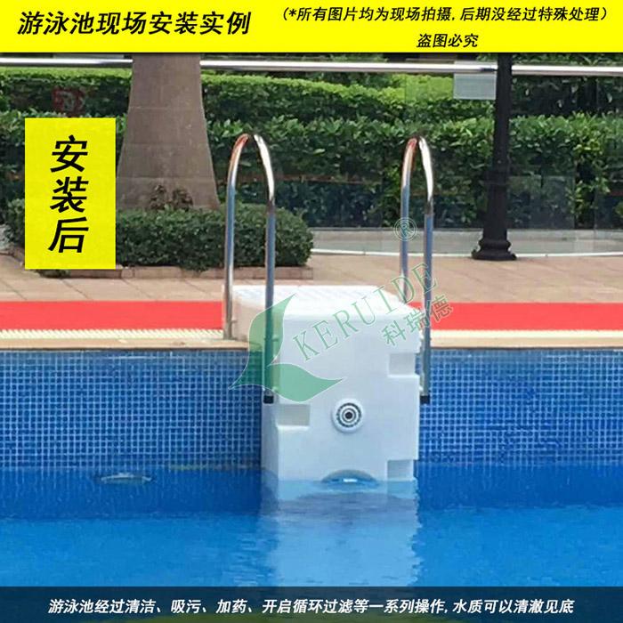 游泳池安装一体式壁挂器后