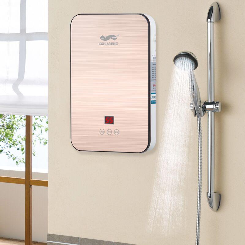 奥利尔小型即热式电热水器壁挂家用免储水速热卫生间淋浴洗澡机