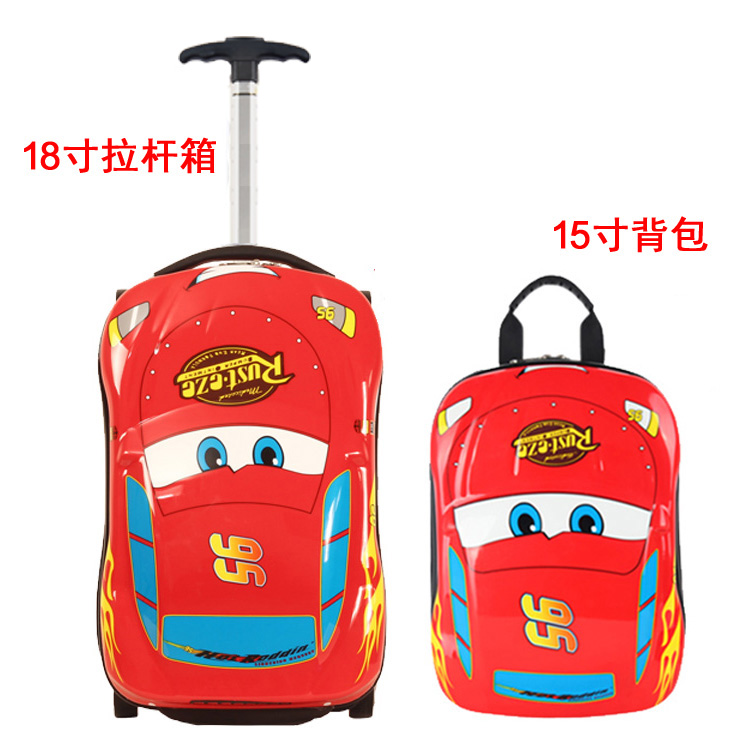 18 Inch Red Car Lever + 15 Inch Red Car Backpack