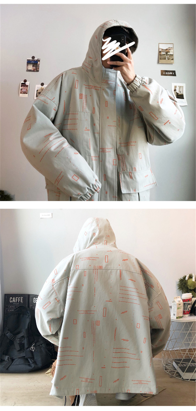 2020春新款男士工装夹克满印外套潮 W3501-P108