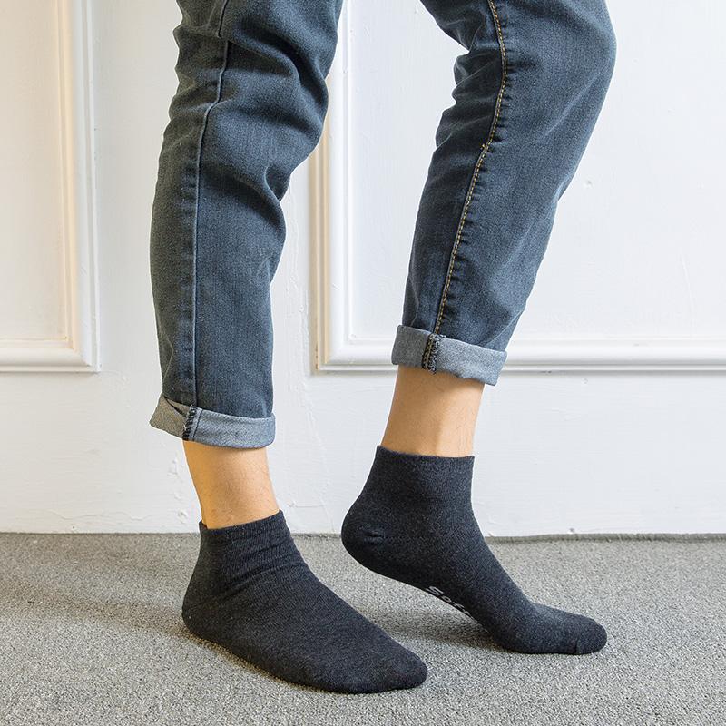袜子男夏季短袜薄款防臭吸汗低帮浅口短长筒船袜纯色棉隐形袜男潮