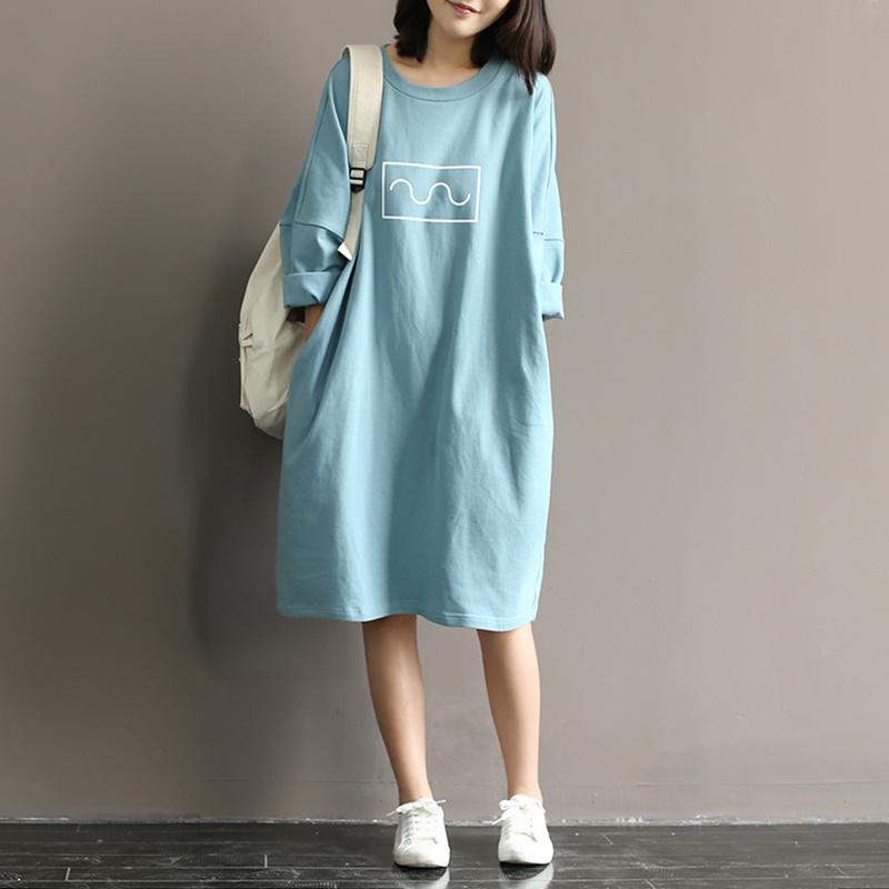 Жир mm добавить с большим размером большой двор свободный 200 цзин, единица измерения веса беременная женщина летний костюм платье корейский тонкий длина хлопок короткий рукав T футболки