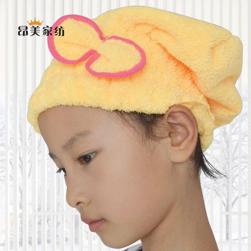 昂美干发帽 珊瑚绒公主帽双面加厚干发巾浴帽擦头发速干帽包邮