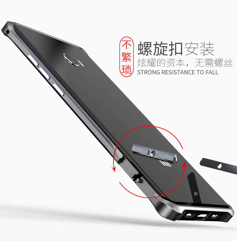 Luphie Halberd Rotary Snap Slim Light Aluminum Bumper Metal Shell Case for Xiaomi Mi Note 2