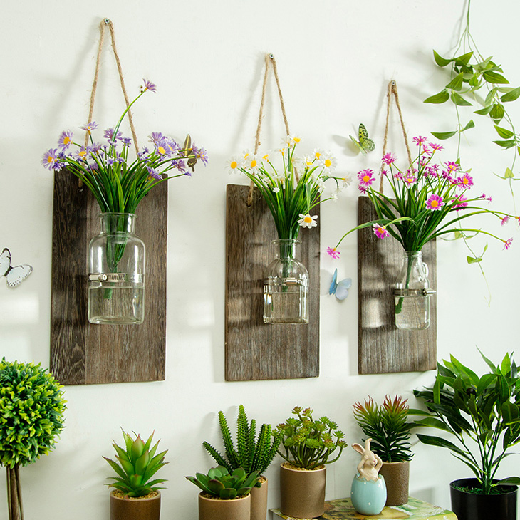 Usd 2516 Creative Wall Mounted Hydroponic Vase Wall Hanging Glass