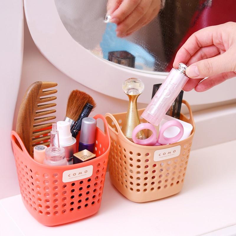 日本多用途迷你塑料吊篮化妆品文具浴室卫生间置物收纳挂篮首饰篮