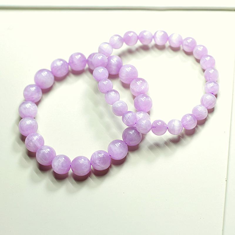 天然紫锂辉石手链女正品水晶手串闺蜜信物学生简约冰种紫色水晶