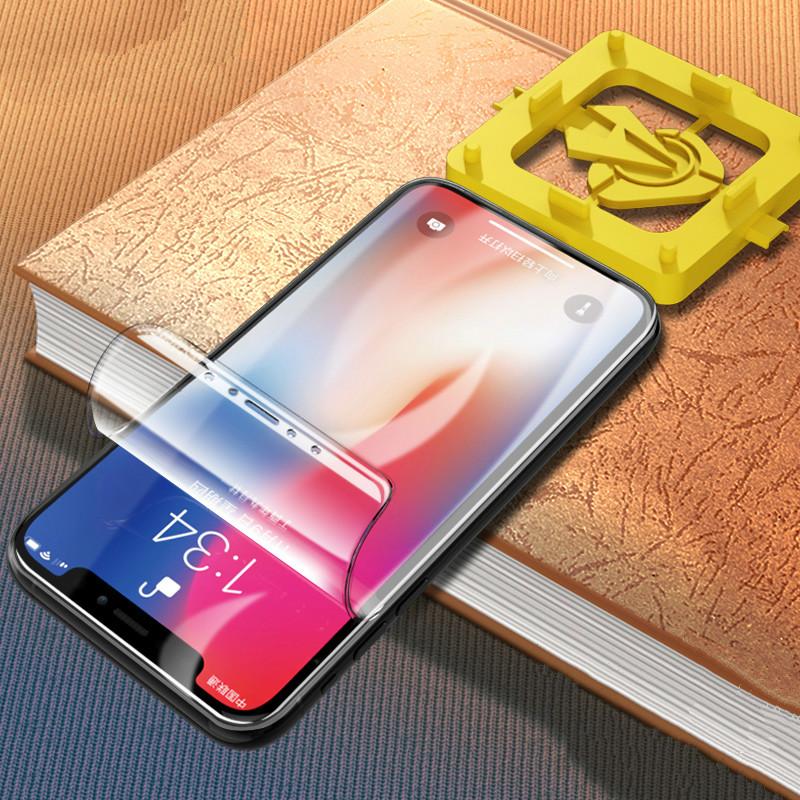 苹果x水凝膜iPhoneX钢化iPhoneXR手机xr全屏覆盖iphonexs max全包边XMax背膜防摔软膜蓝光护眼无白边保护贴膜