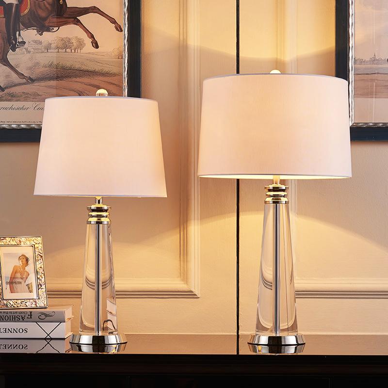 现代简约欧式台灯水晶酒店床头灯创意时尚大台灯卧室台灯装饰客厅