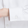 Mikawa 2018 spring new white shirt female Han Fan overalls long sleeve professional dress loose bottoming shirt OL
