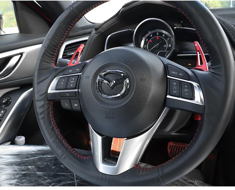Ốp trang trí logo trên vô lăng xe Mazda CX-5 2018 - ảnh 18
