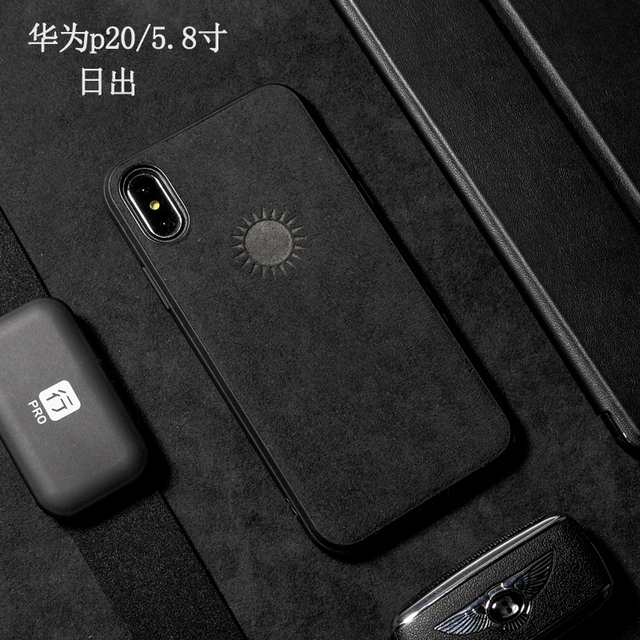 reputable site fba9d 19a27 9 Huawei P20, Huawei P20 Pro Alcantara Phone Case Microfiber Hydrophobic  Water Repellent Surface Covers