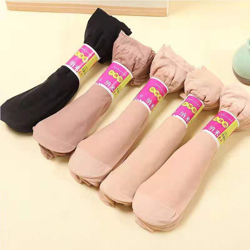 天鹅绒薄款短丝袜女黑肉色丝袜子夏季透明耐磨防勾丝短袜超薄春秋